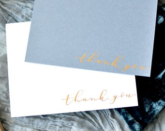 Handwritten Thank You Card | Gold Calligraphy Ink | Not Printed | Wedding Cards | Thank You Cards