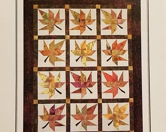 Lazy Leaves, A Fat Quarter Quilt Kit, Pattern by Far-Flung Quilts FREE SHIPPING