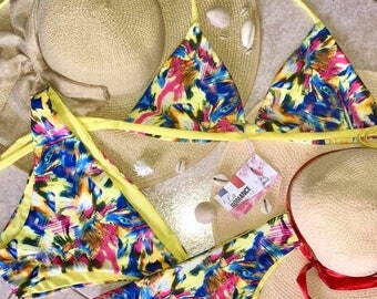 Handmade reversible French was 2017 swimsuit