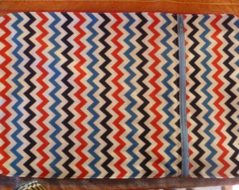 compartment 'red white blue zig zag' theme placemat