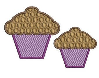 NeedleUp - cupcake embroidery design