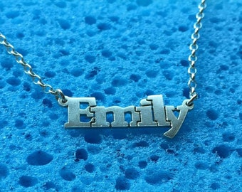 Emily name necklace,sterling silver 925, Custom your Design