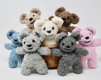 Mini Teddy Bears.Hand Knitted. Photo prop.