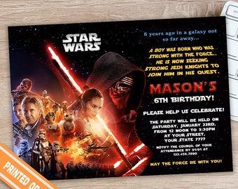 Star Wars Invitation - Star Wars Birthday - Star Wars Party