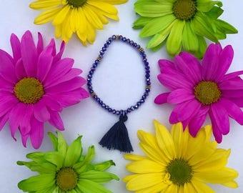 Dark Blue Tassel Bracelet