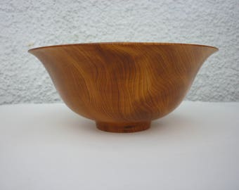Handturned yew bowl
