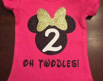 Oh Twodles Minnie Mouse Birthday shirt / 2nd birthday shirt / Minnie Mouse birthday shirt / OH TWODLES!