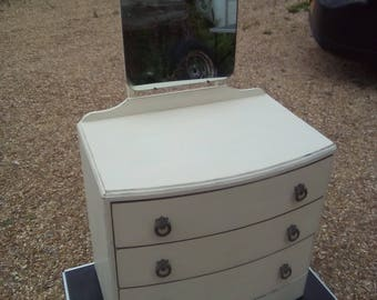 shabby chic chest of drawers bow front vintage