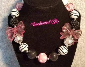 Wild Child Zebra Bubble Necklace