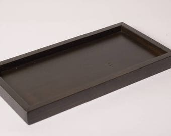 Black wooden tray for 5 soap dish