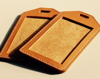 Hand Stitch Buffalo Leather ID holder