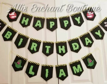 Ghostbuster Banner, Ghostbuster Birthday Name Banner, Ghostbuster Garland