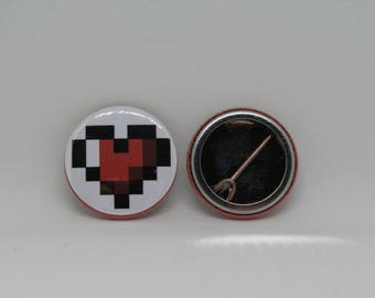 Pixel Heart Badge