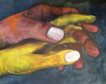 Entwined hands