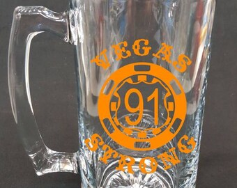 Vegas strong Country strong Route 91 Beer Mug