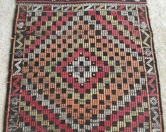 "3'x 2'4"" Vintage wool Turkish handmade Kilim FREE SHIPPING!!!"