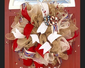 USA Patriotic Wreath