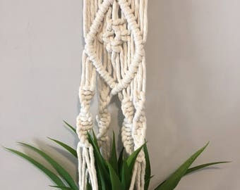 Natural Macrame Plant Hanger - 8mm 100% Cotton Rope