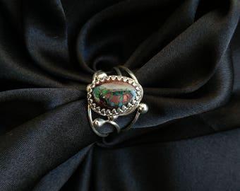 Boulder Opal Silver Ring