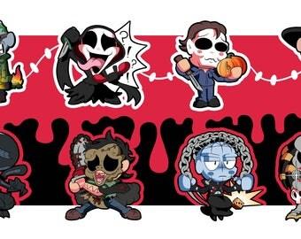 Horror Movie Classics Chibi Sticker Set