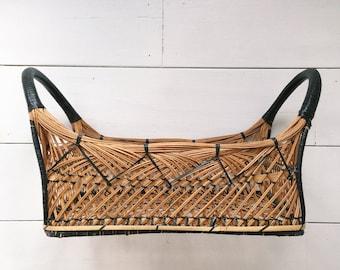 Vintage Detail Woven Basket