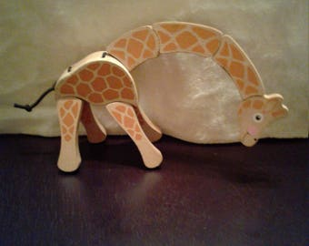 Child's Wooden Giraffe Toy