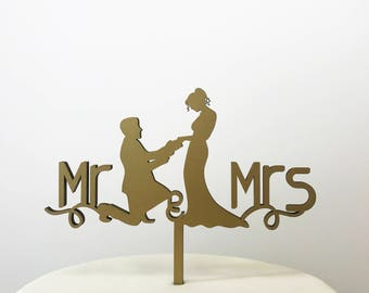 Wedding Cake Toppers - Mr and Mrs Cake Topper - Cake Toppers - Wedding - Custom Cake Toppers - Acrysh - FREE SHIPPING!!!
