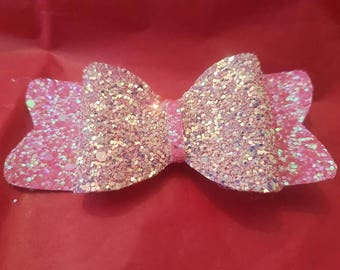 pink shimmer bow