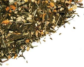 Green tea ginger lemon, Loose Leaf Tea, 1.5 oz Hand Blended quality Tea