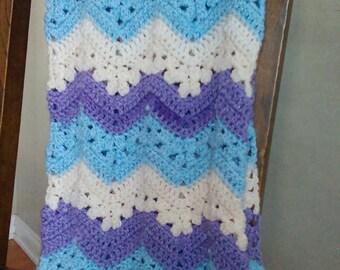 Blue-Purple baby blanket