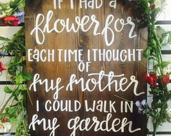 Mothers Garden Sign