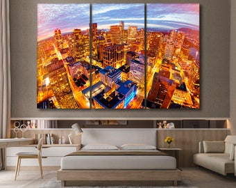 Vancouver canvas Cityscape wall art Vancouver wall art Skyline canvas Vancouver print Dawntown canvas Cityscape canvas Cityscape wall decor