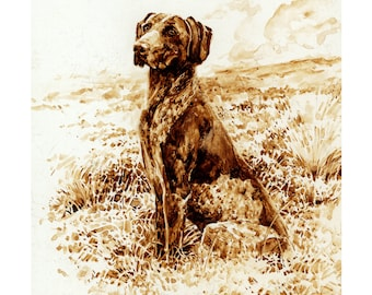 German Short Haired Pointer - Limited Edition Print Signed by Roger Inman