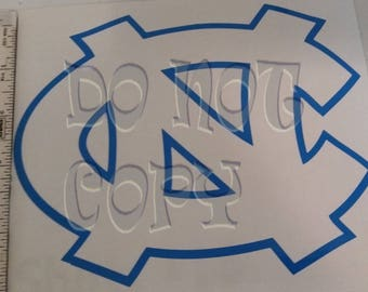 "North Carolina - ""NC"" -  Vinyl Decal - TWO Color - Made in USA"