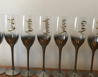 Wine Glass Decal Etsy - Vinyl decals for wine glasses uk