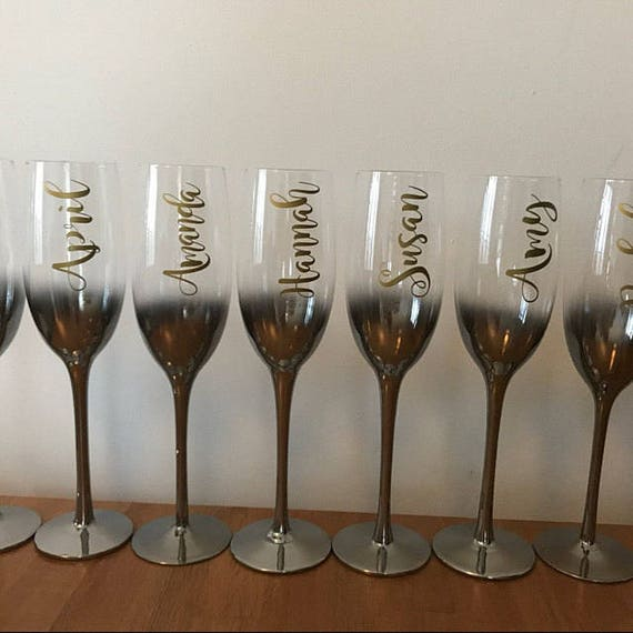 Custom Name Vinyl Decal For Wine Glass Personalized Wine - Custom vinyl stickers for glass