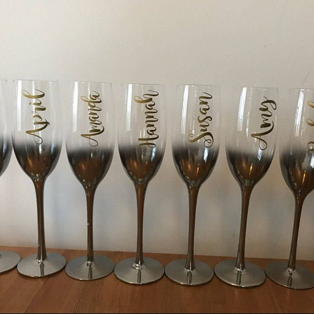 Custom Name Vinyl Decal For Wine Glass Personalized Wine - Custom vinyl decals for wine glasses