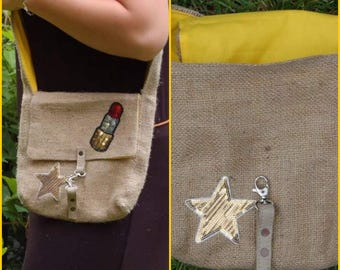 Recycled bag in Burlap.