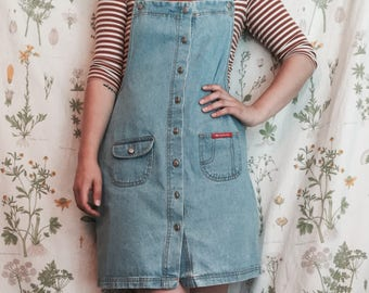 Vintage 90s Denim Jumper Dress