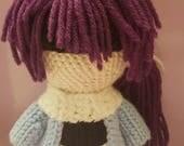 Hakuoki Inspired Amigurumi Shinsengumi Saito Hajime Plush Doll- READY TO SHIP