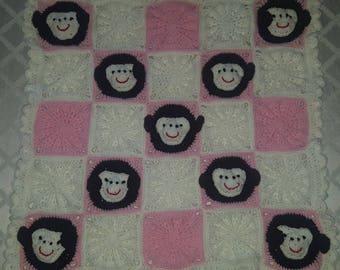 Crochet monkey blanket/throw