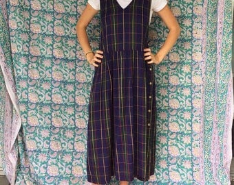Oversized Vintage Plaid Dress
