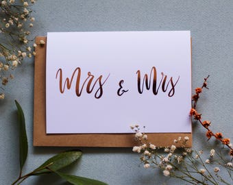 Mrs & Mrs - A6 Greeting Card