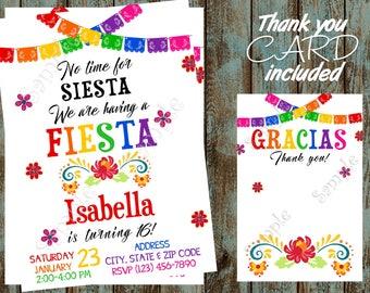 Fiesta Invitation, Cinco de Mayo Printable Invitation, Mexican Invitation, Fiesta Birthday Party, Mexican Birthday Party, Mexican Shower