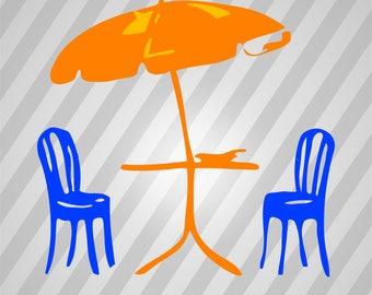 Umbrella Silhouette - Svg Dxf Eps Silhouette Rld RDWorks Pdf Png AI Files Digital Cut Vector File Svg File Cricut Laser Cut