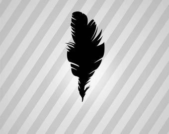 Bird Silhouette Feather - Svg Dxf Eps Silhouette Rld RDWorks Pdf Png AI Files Digital Cut Vector File Svg File Cricut Laser Cut