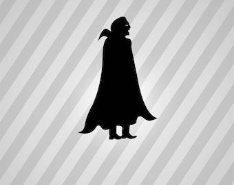 vampire Silhouette - Svg Dxf Eps Silhouette Rld RDWorks Pdf Png AI Files Digital Cut Vector File Svg File Cricut Laser Cut