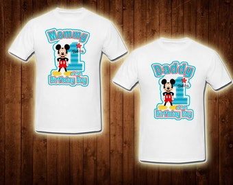 family shirts mickey mouse theme mom of the birthday boy dad of the birthday boy