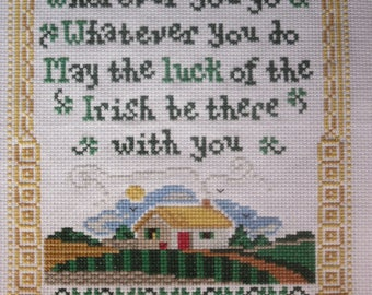 Irish Blessing - counted cross stitch