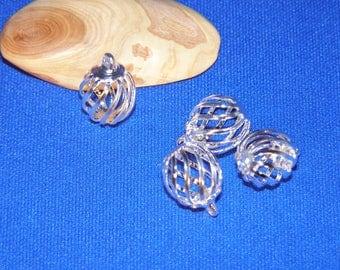 14 * 10 mm metal filigree cage bead